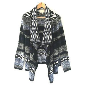 Skies Are Blue Tribal Knit Cardigan Sweater L